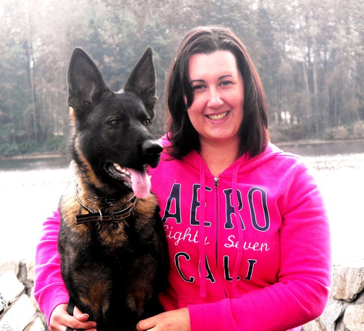 Vom Banach K9 Agililty and Competitive Obedience-German Shepherd with owner