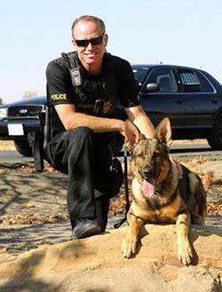 Officer with Police K9 dog